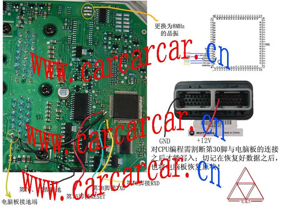 汽车电脑专栏 >> 汽车电脑板cpu接线图